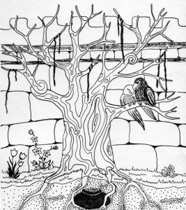 Про чоловіка, який купив пару папуг. Ілюстрація Надії Вишневської.