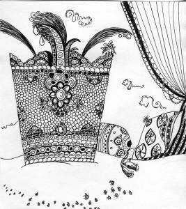 Гість. Ілюстрація Надії Вишневської.