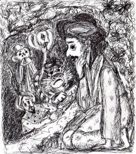Четверо друзів. Ілюстрація В.Папонової.