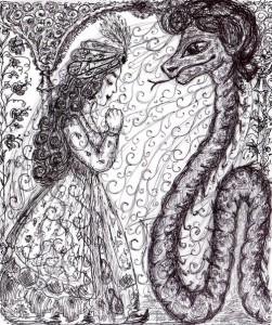 Змієва наречена. Ілюстрація В.Папонової.