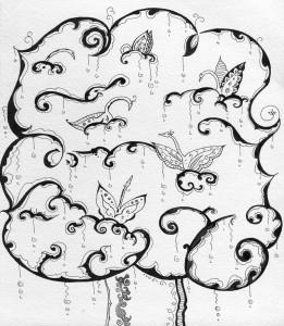 Мудрий гусак. Ілюстрація Лідії Забродської.
