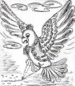 Голуб-мандрівник. Ілюстрація В.Папонової.