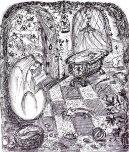 Вірна ласиця. Ілюстрація В. Папонової