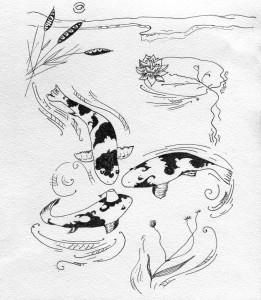 Три риби. Ілюстрація Лідії Забродської.
