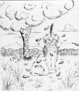 Котячий суд. Ілюстрація Лідії Забродської.